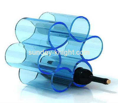 Lucite manufacturer customized acrylic wine and bottle rack WDK-056