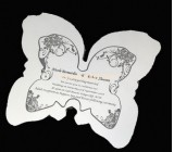 Perspex manufacturers customized cheap acrylic wedding invitations ODK-203