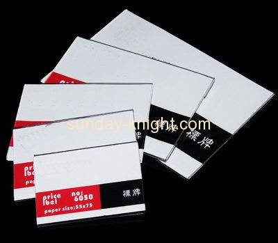 Acrylic display manufacturers customized acrylic price tag holder ODK-196