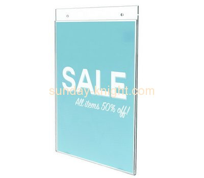 Acrylic company customized 11x17 wall mount sign holder BHK-086