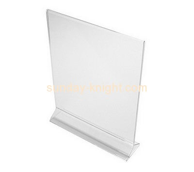 Perspex manufacturers custom tabletop sign display holder BHK-112