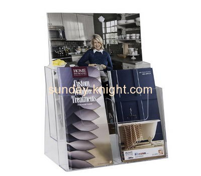 Acrylic plastic manufacturers custom clear acrylic plastic pamphlet holder BHK-144