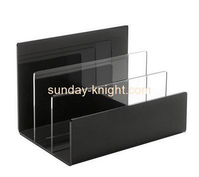 Acrylic products manufacturer custom plastics file holder for desk BHK-227