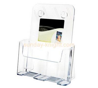Acrylic supplier custom perspex fabrication literature display racks BHK-233