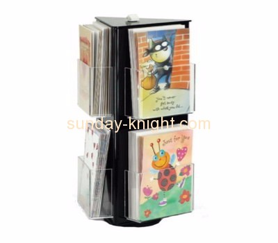 Perspex manufacturers custom design plastic tri fold brochure holder BHK-257