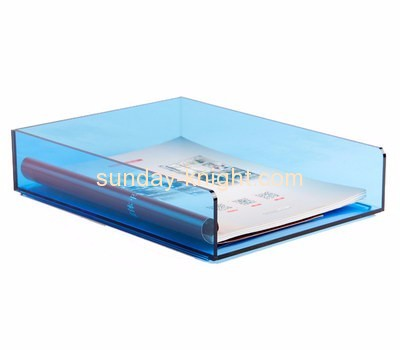 China acrylic manufacturer custom designs plastic file folder holder for desk BHK-260