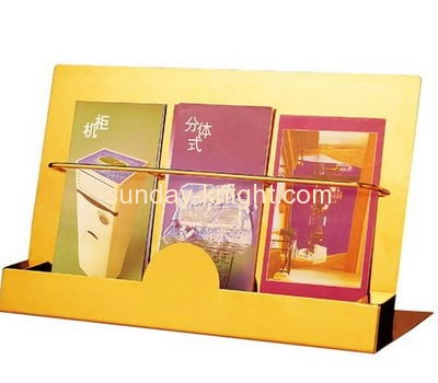 Cosmetic display stand suppliers custom acrylic flyer holder stands for display BHK-271