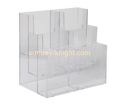 Acrylic manufacturers china custom clear plastic fabrication leaflet holder BHK-273