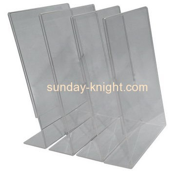 Lucite manufacturer custom acrylic product a4 display holder BHK-275