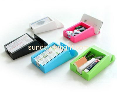 Plastic suppliers custom acrylic unique business card holders BHK-284