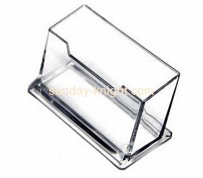 Acrylic display manufacturer custom plexiglass fabrication business card holder for desk BHK-287