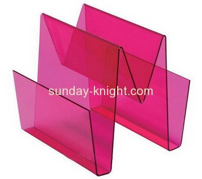Acrylic items manufacturers custom acrylic magazine holder stand BHK-294
