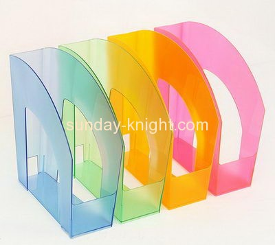 Acrylic manufacturers custom tabletop a4 file holder BHK-300