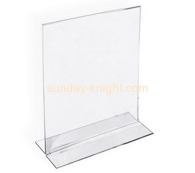 Plexiglass manufacturer custom acrylic plastic stand up sign holder BHK-322