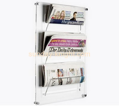 Acrylic manufacturers custom hanging acrylic sign newspaper holder BHK-329