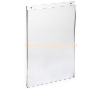 Plastic fabrication company custom clear plastic sign holder wall mount BHK-328