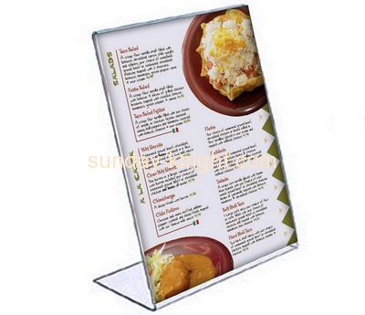 Plastic manufacturers custom acrylic stand alone sign holder BHK-330