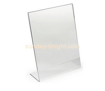 Plastic suppliers custom acrylic display table 8.5 x 14 sign holders BHK-332