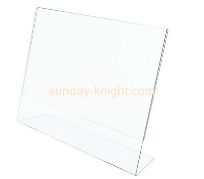 Acrylic plastic supplier custom 11x14 acrylic sign holder BHK-334