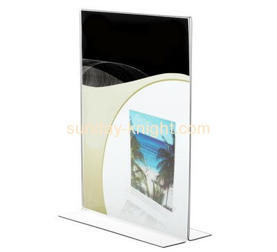 Acrylic plastic manufacturers custom t style acrylic sign holder BHK-336