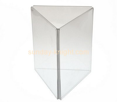 Display stand manufacturers custom acrylic triangle sign holder BHK-351
