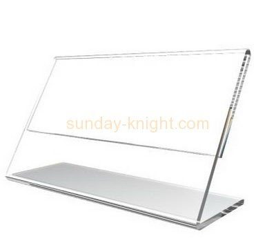 Acrylic display stand manufacturers custom slanted acrylic sign holders BHK-350