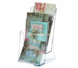 Acrylic display stand manufacturers custom lucite desktop brochure holder BHK-399