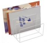 Acrylic display supplier custom clear lucite plastic file holder BHK-397