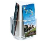 Acrylic plastic supplier custom plexiglass tri fold brochure holder BHK-464