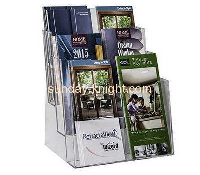 Acrylic sheet manufacturer custom perspex standing brochure holder BHK-438