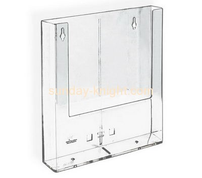 Acrylic manufacturers custom lucite wall mounted magazine racks for office BHK-447