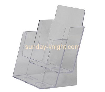 Acrylic plastic supplier custom brouchure holder leaflet stands BHK-473