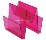 China acrylic manufacturer perspex unique magazine rack BHK-504