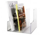 Acrylic manufacturers custom lucite magazine rack shelf BHK-506