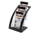 Acrylic plastic supplier custom lucite free standing brochure holders BHK-514