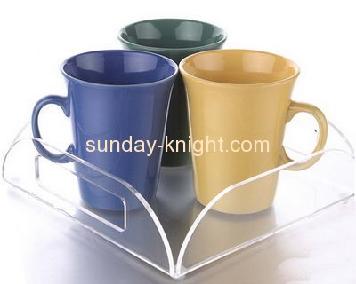 Perspex manufacturers custom acrylic cup tray holder HCK-061