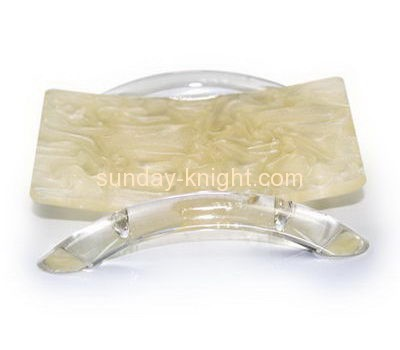 Acrylic items manufacturers custom lucite soap tray for bathrooms HCK-090