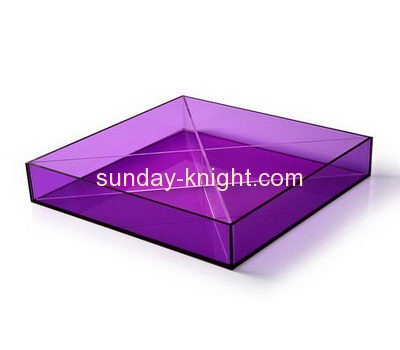 Perspex manufacturers custom acrylic snacks serving tray HCK-105