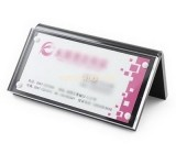 Plastic fabrication company custom acrylic business card holder HCK-167