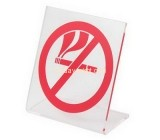 Plastic company custom acrylic smoking prohibited sign HCK-172
