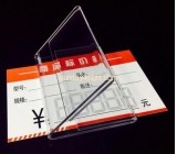 Custom and wholesale clear plastic price tag holder ODK-316