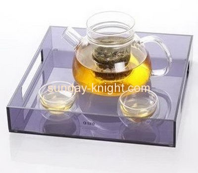 Acrylic display manufacturer custom lucite tea cup and plate holder HCK-174