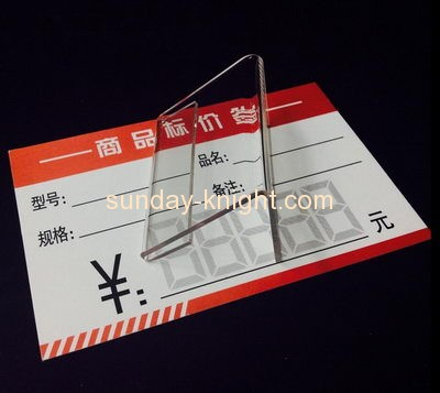 Custom and wholesale acrylic price tag holder ODK-313