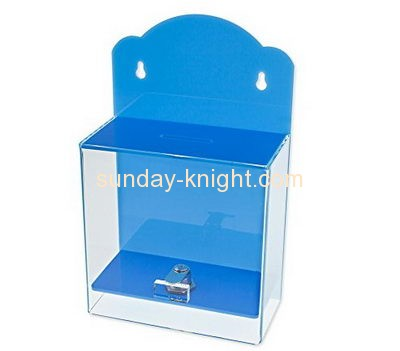 Custom and wholesale acrylic charity donation box DBK-117