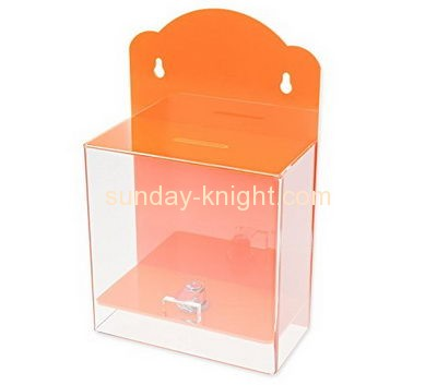 Custom and wholesale acrylic charity money collection box DBK-120