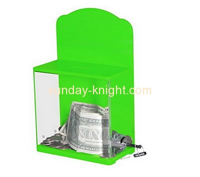 Custom and wholesale acrylic fundraising collection boxes DBK-124