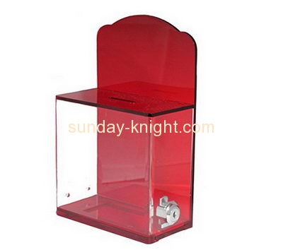 Custom and wholesale acrylic money donation box DBK-132