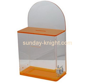 Custom and wholesale acrylic charity money collection boxes DBK-137