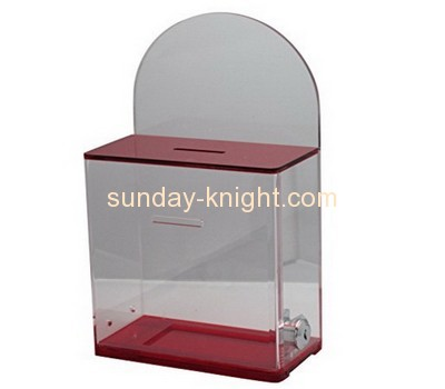 Custom and wholesale acrylic charity collection boxes for sale DBK-135