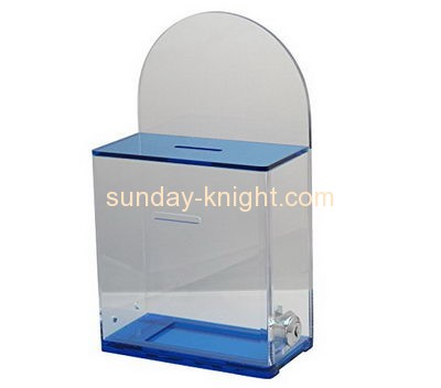 Custom and wholesale acrylic secure donation box DBK-138